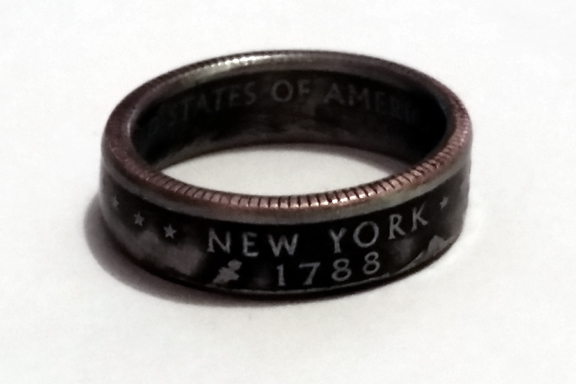 New York State Quarter Ring-Antique finish